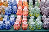 Colorful Decor Wax Candle Sell Outdoor Market Fair