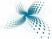 Vector Halftone Banner - Blue
