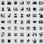 stock photo of classroom  - School and Education icons - JPG