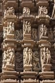 foto of khajuraho  - Temples of Khajuraho one of the most popular tourist destinations in India and famous for their erotic sculptures - JPG