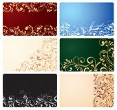 Set of business cards with ornate elements
