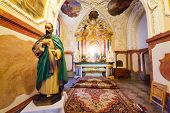CZESTOCHOWA, POLAND - JUNE 24: Interiors of Jasna Gora monastery in Czestochowa on 24 June 2013. Sanctuary is the heart of pilgrimage in Poland and home to the holy Icon of the Black Madonna.