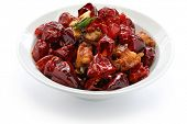 stir fried chicken(bone-in) with sichuan chili peppers