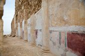 stock photo of masada  - Details at Herod palace at Masada Israel - JPG