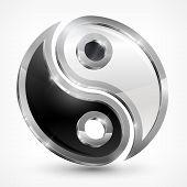 Yin Yang símbolo metálico