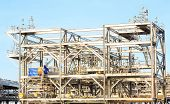 Assembling of LNG ,liquefied natural gas, Refinery Factory  for Oil and gas industry background