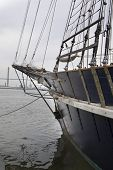 Bow Of Antique Sailboat