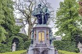 Petit Sablon Square In Brussels, Belgium