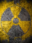 Dirty Yellow Nuclear Warning Symbol