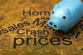Piggy Bank And Crash Prices Concept