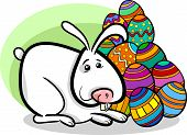 Easter Bunny Cartoon Illustration