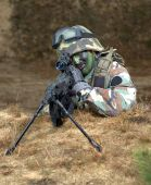 Sniper In Foxhole; Air Soft Gun battle