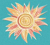 Ornament sun illustration