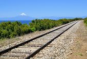 Railroad Near Lake Llanquihue, Chile