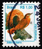 Postage Stamp Brazil 1994 Rufous Hornero, Bird