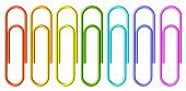 Colored Paperclips Set