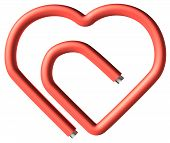 Red Paperclip Heart