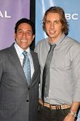 Oscar Nunez and Dax Shepard at NBC Universal's Press Tour Cocktail Party, Langham Hotel, Pasadena, C