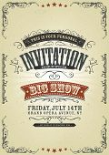 Vintage Invitation Background