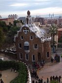 Gatehouse at Park Guell, Barcelona