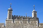 Detail of the Tower of London, UK