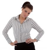 I Businesswoman Is Unhappy Or Disappointed An  Attractive Young Businesswoman