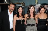 Greg Evigan and Pamela Serpe with Briana Evigan and family at the Los Angeles Premiere of 'Sorority
