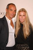 Lloyd Klein and Jocelyn Wildenstein at the 'Coco Before Chanel' Premiere Party. Chanel, Beverly Hill