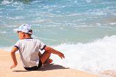 Child In The Baska Beach, Croatia