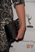 Elizabeth Perkins's purse at the Academy of Television Arts and Sciences Prime Time Emmy Nominees Party. Wolfgang Puck Pacific Design Center, West Hollywood, CA. 09-17-09