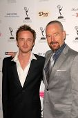 Aaron Paul and Bryan Cranston  at the Academy of Television Arts and Sciences Prime Time Emmy Nominees Party. Wolfgang Puck Pacific Design Center, West Hollywood, CA. 09-17-09