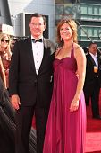 Stephen Colbert and Evelyn McGee at the 61st Annual Primetime Emmy Awards. Nokia Theatre, Los Angele
