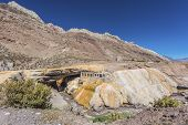 The Inca's Bridge In Mendoza, Argentina.