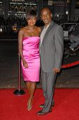 Viola Davis and Julius Tennon at the Los Angeles Premiere of 'Law Abiding Citizen'. Grauman's Chines