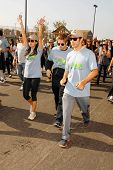 Stephanie Jacobsen with Shaun Sipos and Michael Rady at the 'American Dream 5k Walk' Benefitting Habitat for Humanity. Pacoima Plaza, Pacoima, CA. 10-10-09
