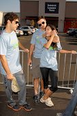 Michael Rady with Colin Egglesfield and Stephanie Jacobsen  at the 'American Dream 5k Walk' Benefitting Habitat for Humanity. Pacoima Plaza, Pacoima, CA. 10-10-09
