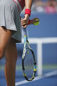 Grand Slam champion Victoria Azarenka serving during match against Ana Ivanovich at US Open 2013