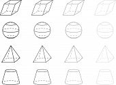 picture of octahedron  - 3d vector geometry figures - JPG