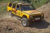 Yellow Offroad Car On The Trial Race