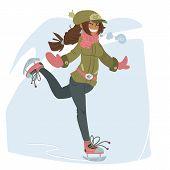 Girl on Skates.