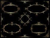 Vector decorative ornate frames