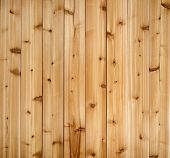 stock photo of woodgrain  - Background of wooden red cedar planks showing woodgrain texture - JPG