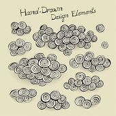 Hand drawn design elements, vector