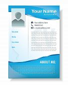 Vector illustration of professional resume template design