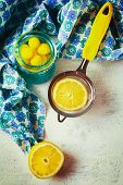 Lemon Drops And Lemon Fruit For Tea