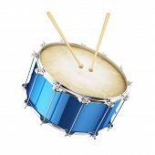 Blue Drum Isolated