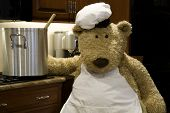 Chef Bear Stirring Pot