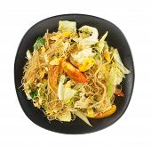 Cellophane Noodles Stir Fried With Vegetable