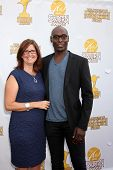 LOS ANGELES - JUN 26:  Stephanie Reddick, Lance Reddick at the 40th Saturn Awards at the The Castawa