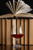 Glass Of Brandy And Books